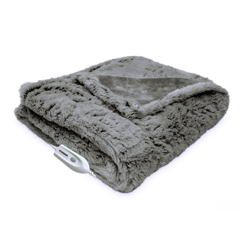 Cordless Heated Throw Wayfair Best Rechargeable Heated Throw Blanket