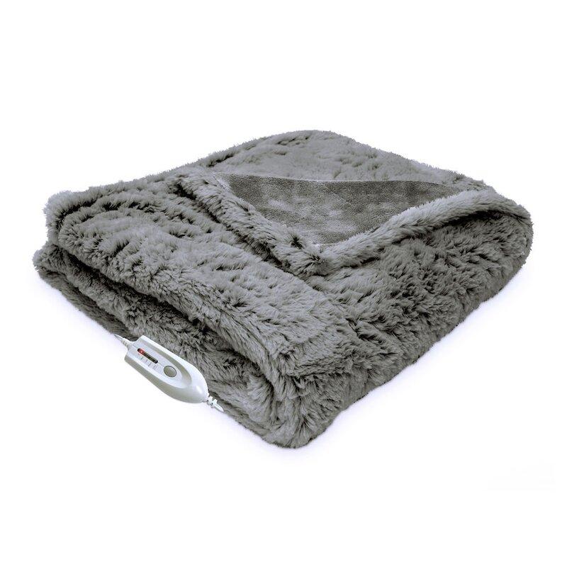 Cordless Heated Throw Wayfair Fascinating Heating Blanket Throw