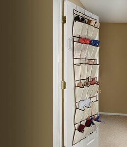 Pocket Fabric Storage Rack 12 Pair Hanging Shoe Organizer