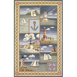 livia coastal views nautical novelty rug