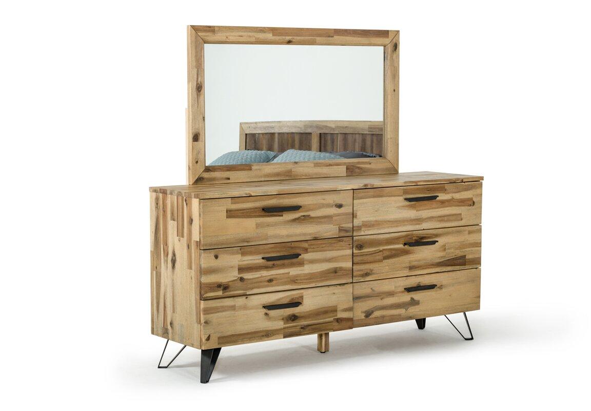 union rustic sofia light wood platform 5 piece bedroom set reviews. Black Bedroom Furniture Sets. Home Design Ideas