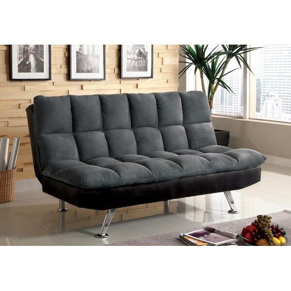 Ebern Designs Hazlehurst Tufted Futon Sofa   Wayfair