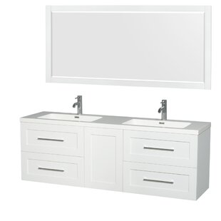 home vanities top white base carrara double abbey design vanity sink marble product transitional consoles and bathroom bath