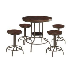 Corriveau 5 Piece Counter Height Dining Set