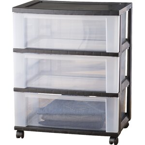 Wayfair Basics Wide 3 Drawer Storage Cart