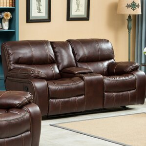 Ewa Double Reclining Loveseat by Roundhill Furniture