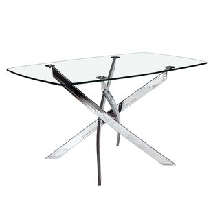Coraline Glass Top Modern Dining Table