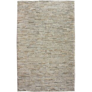 Bellevue Patchwork Hand-Woven Cowhide Off White Area Rug ByFoundry Select