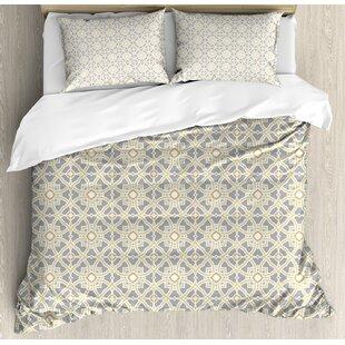 c71648402f327 Arabesque marocain floral azulejos inspiré carrés cercle artwork ensemble  de housse de couette Geometric