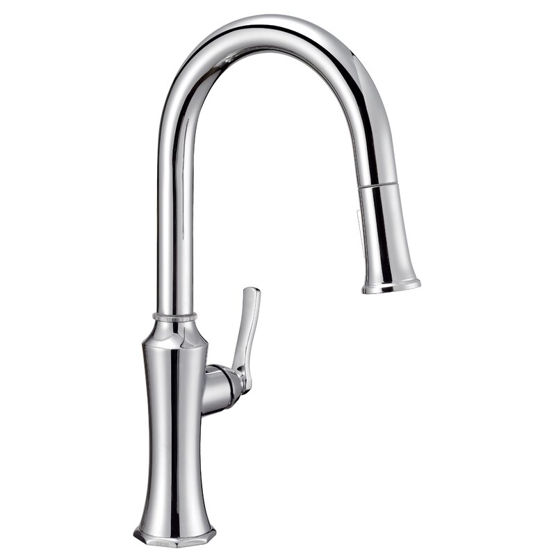 Danze Draper Pull-Down Single Handle Kitchen Faucet with Gerber ...