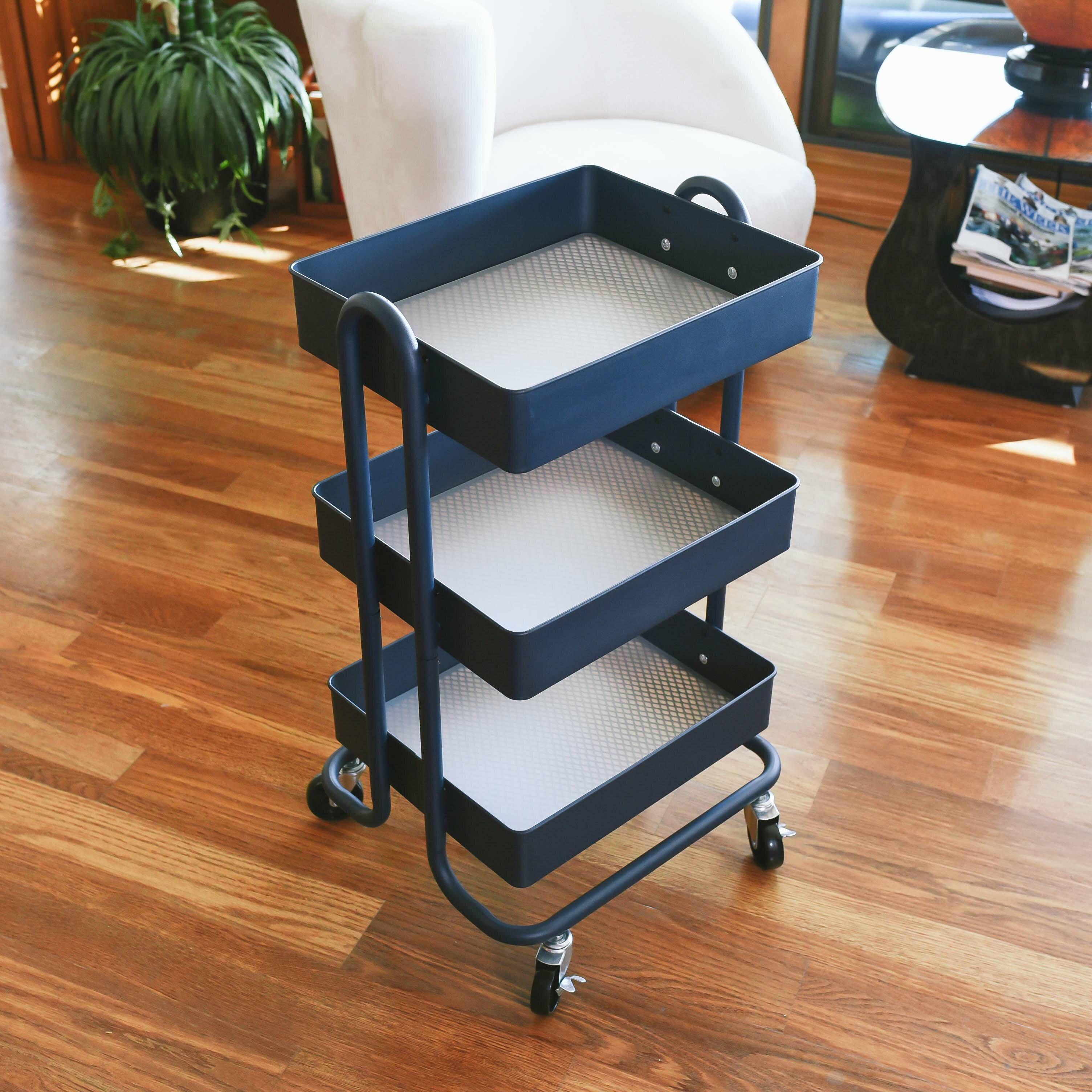 20f08cbf53b2 3 Tier Utility Rolling Cart