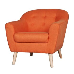 Orange Mid Century Chair | Wayfair
