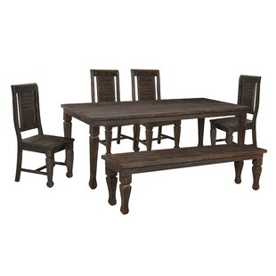 Ammerman 6 Piece Solid Wood Dining Set