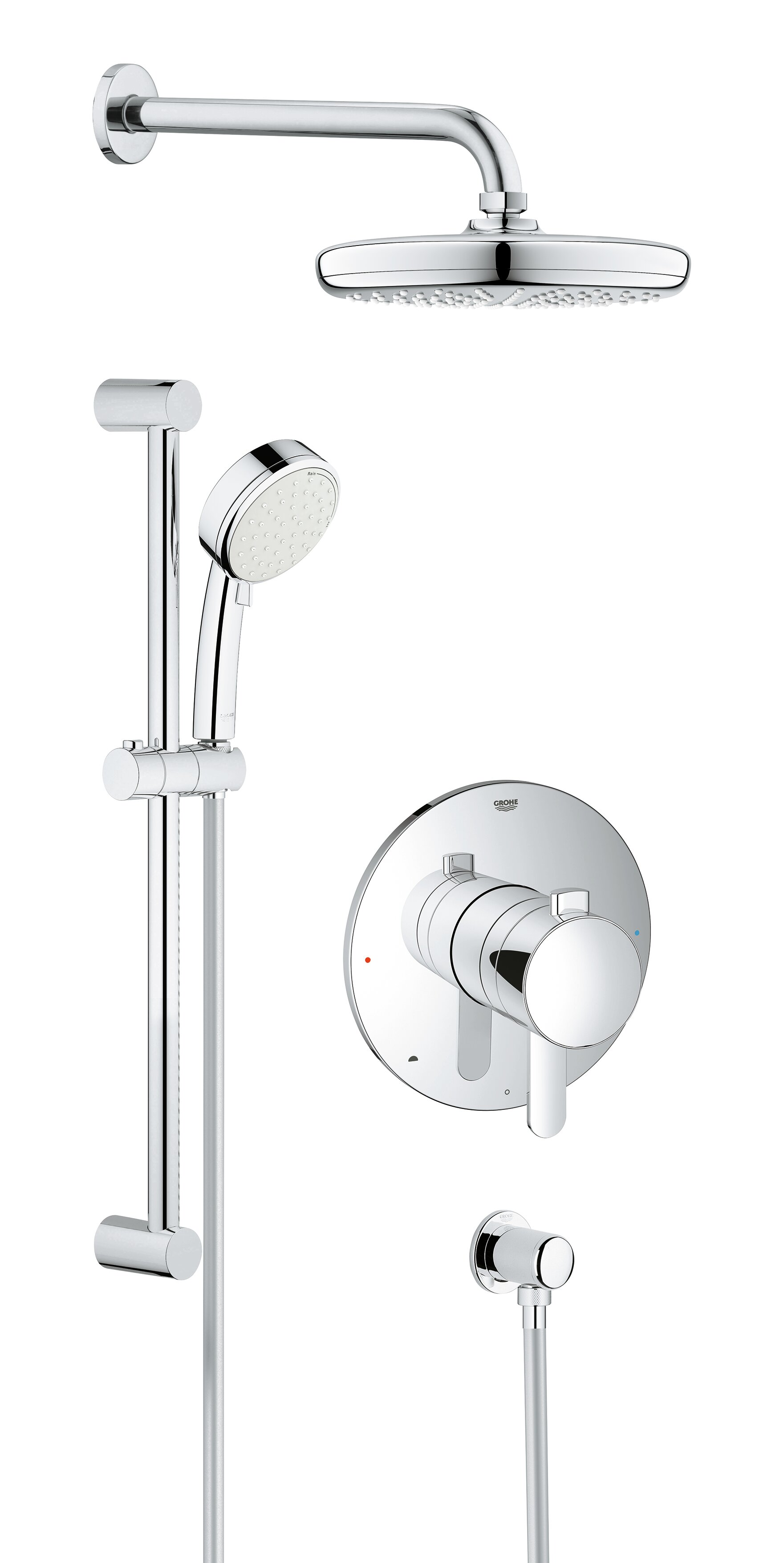 Merveilleux Grohe Cosmopolitan Pressure Balanced Dual Function Adjustable Complete  Shower System With SpeedClean Technology | Wayfair