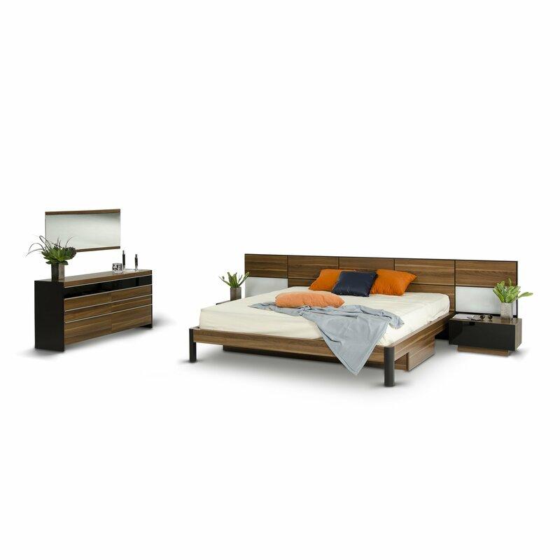 Brayden Studio Cooke King Platform 5 Piece Bedroom Set | Wayfair