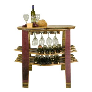 Barrel Head 16 Bottle Floor Wine Rack by ..