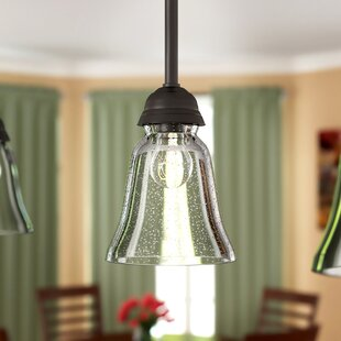 Glass light shades youll love wayfair seeded 5 glass bell pendant shade aloadofball Images