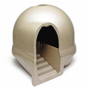 Dome, Cleanstep Cat Box in Titanium by Petmate