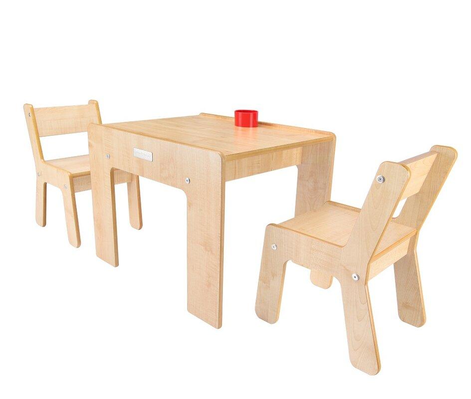 little helper 3 tlg quadratisches kindertisch und stuhl set bewertungen. Black Bedroom Furniture Sets. Home Design Ideas