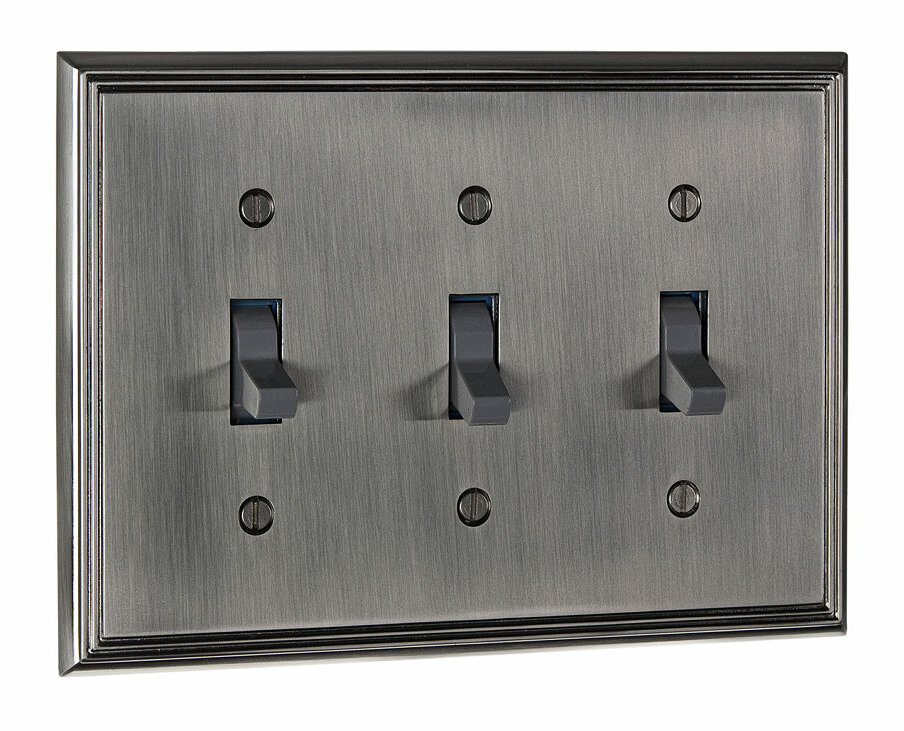 Richelieu 3-Gang Toggle Light Switch Wall Plate