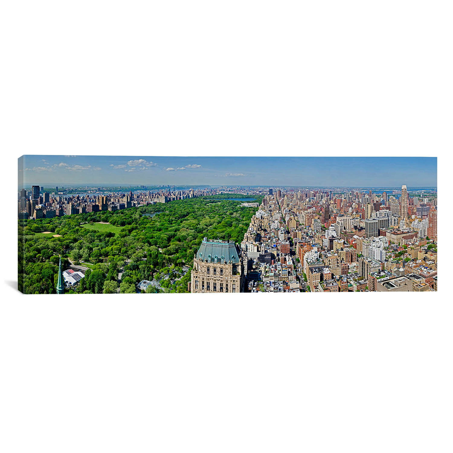 Central Park Manhattan: ICanvas Panoramic Aerial View Of A City Central Park