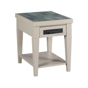 Abby Charging End Table With Storage