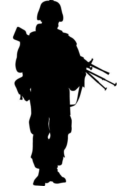 Wallhogs Haynes Military Soldier Vii Silhouette Cutout