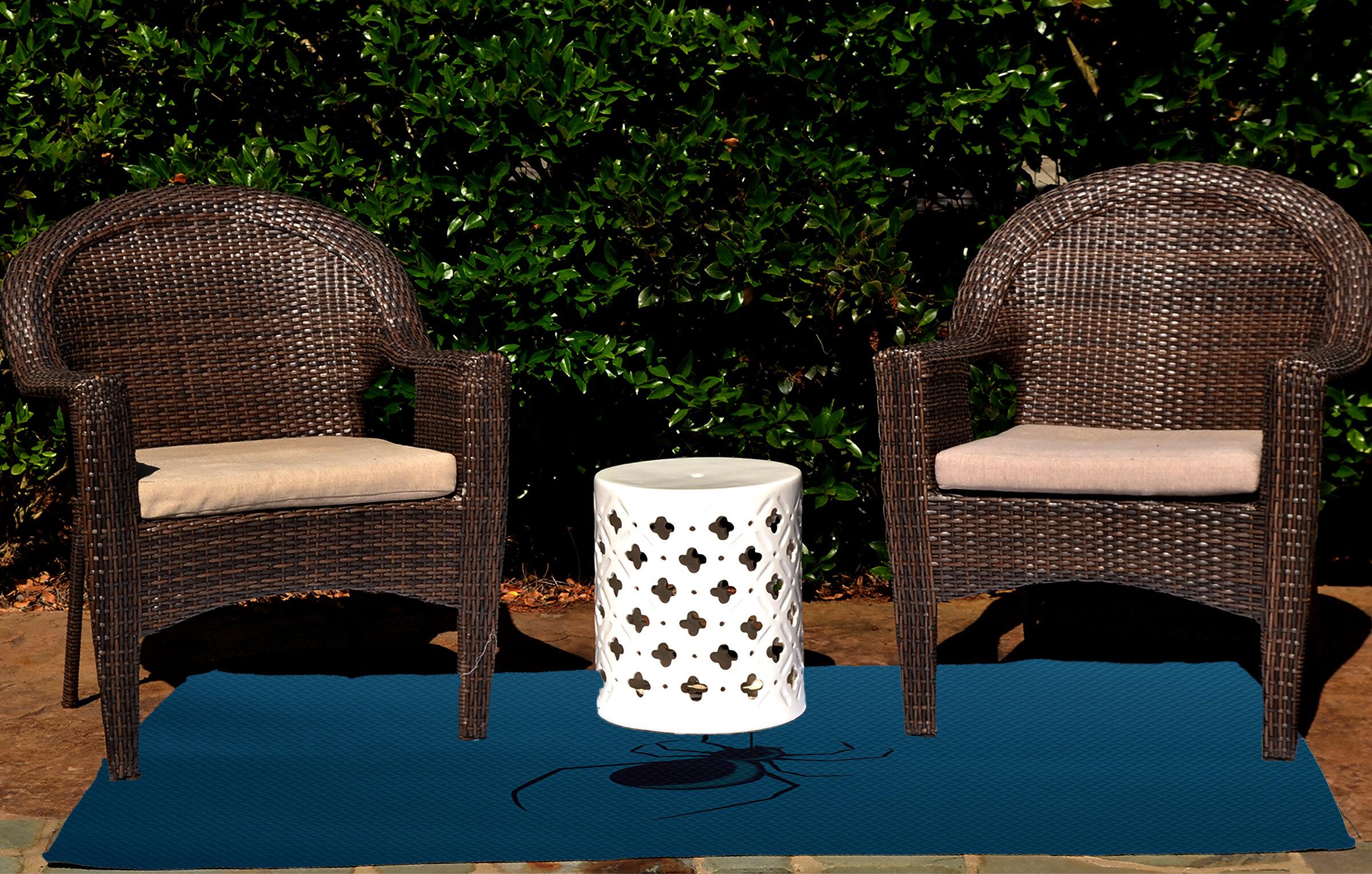 Eeek Holiday Print Teal Indoor Outdoor Area Rug