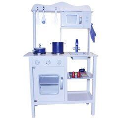 Blue Wooden Play Kitchen berry toys contemporary wooden play kitchen & reviews | wayfair