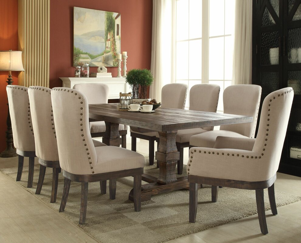 Gracie Oaks Richardson 9 Piece Dining Set Reviews Wayfair Sorahanafo Images
