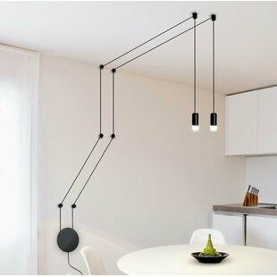 Modern 2 light pendant lighting allmodern quaoar wall fixture 2 light led pendant aloadofball Image collections