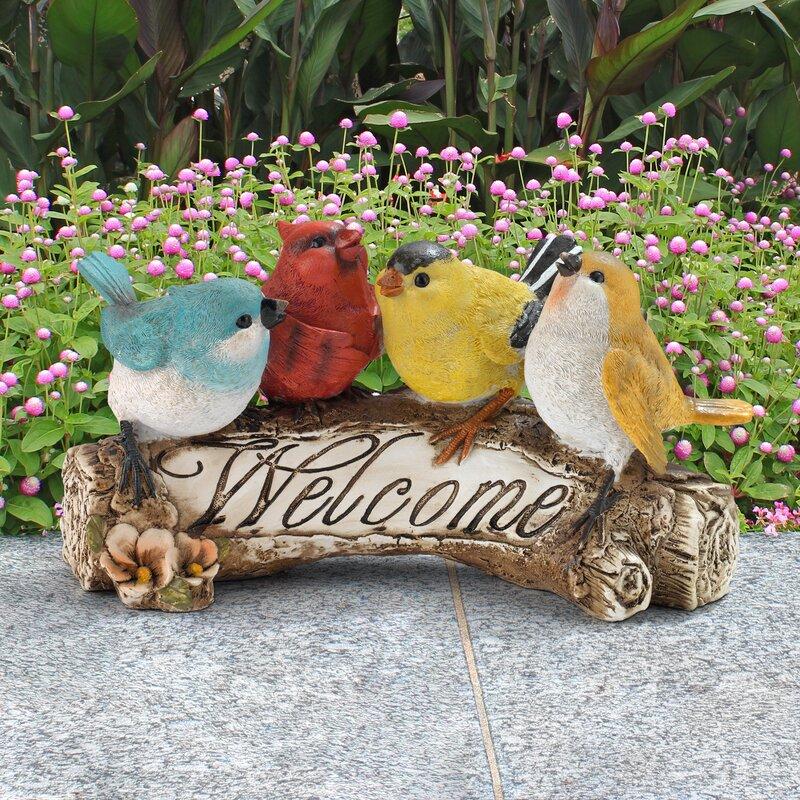 halsey welcome garden sign statue - Halsey Garden