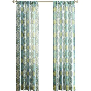 Ricciou00a0Geometric Semi-Sheer Rod Pocket Single Curtain Panel