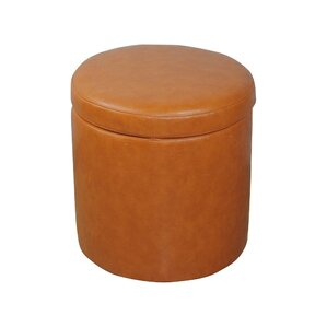 Classic Round Storage Ottoman by Bellasario Collection