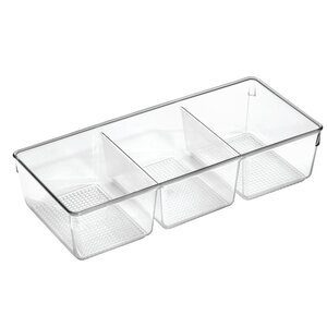 Clarity 3 Section Cosmetic Organizer