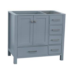 Cambridge Left Offset 36″ Single Bathroom Vanity Base
