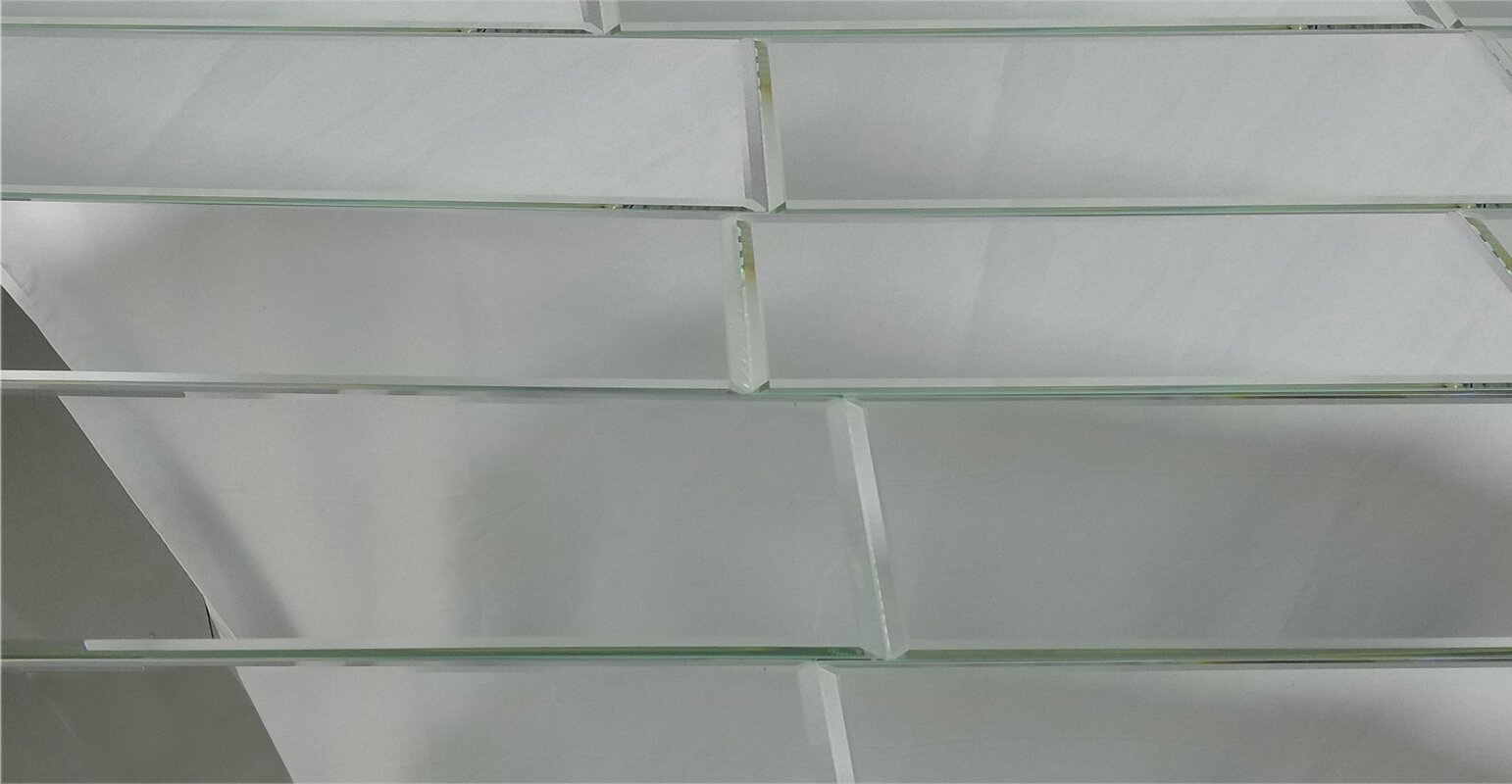 Abolos echo 12 x 24 mirror glass field tile in silver for 12 x 24 glass tile