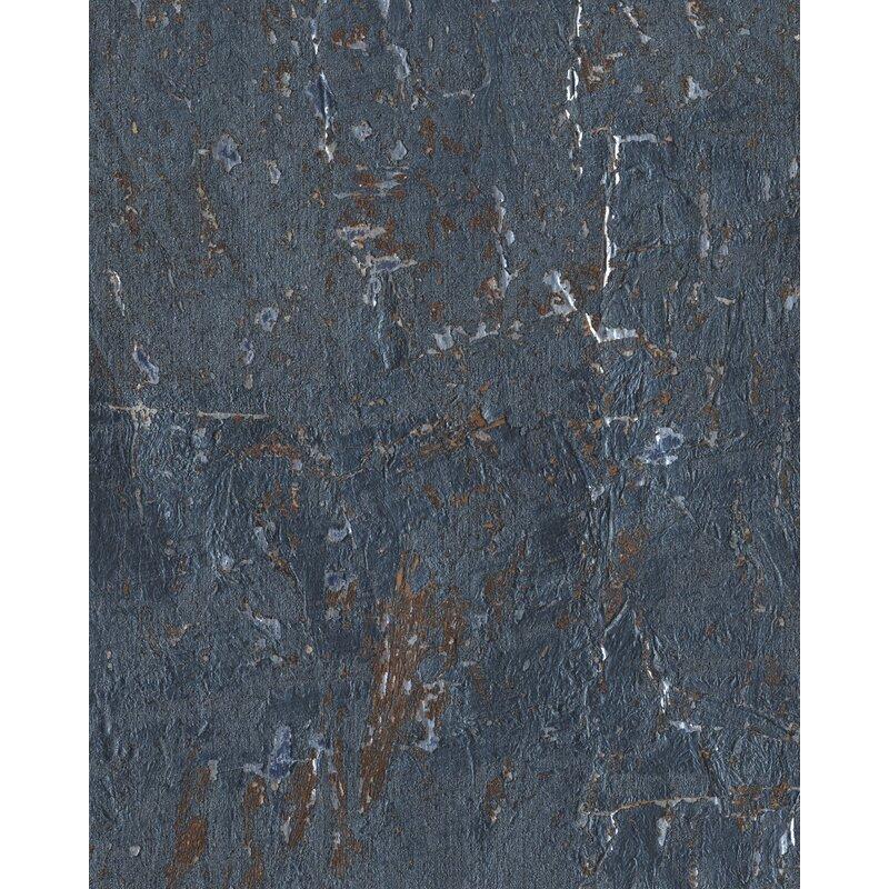"17 Stories Kenzo 24 L x 36"" W Cork Wallpaper Roll  Color: Blue"