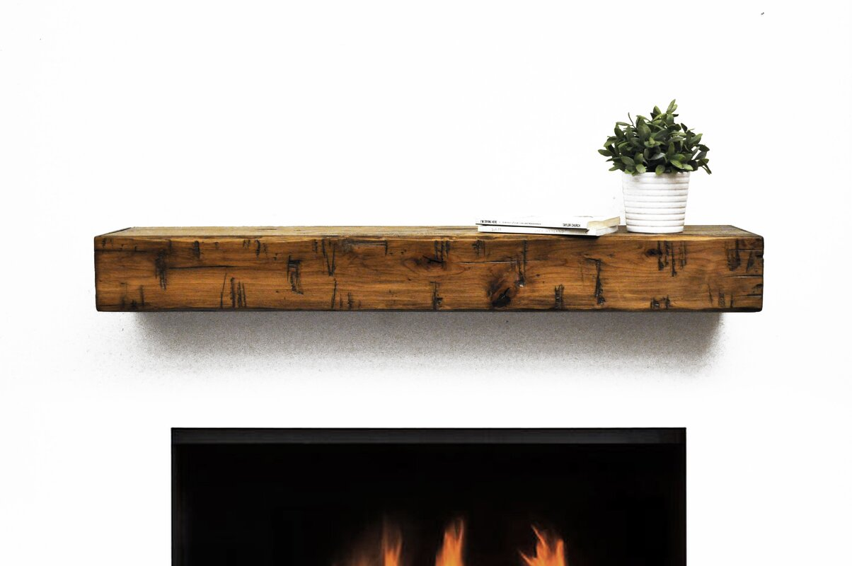 Dogberry Collections Rustic Fireplace Mantel Shelf Reviews Wayfair