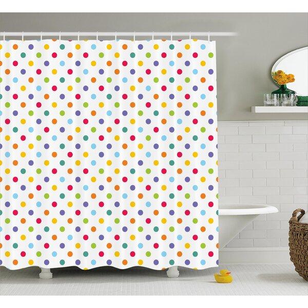 Viv + Rae Bradford Colorful Polka Dots Shower Curtain | Wayfair