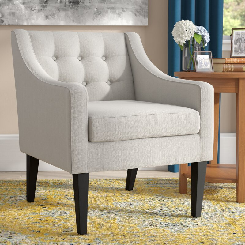 Charmant Aileen Mid Century Tailored Tufted Accent Armchair