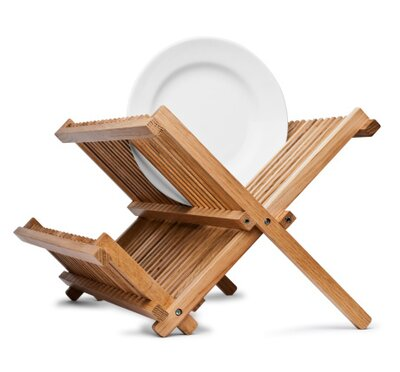 Bamboo Folding Dish Rack Axis International