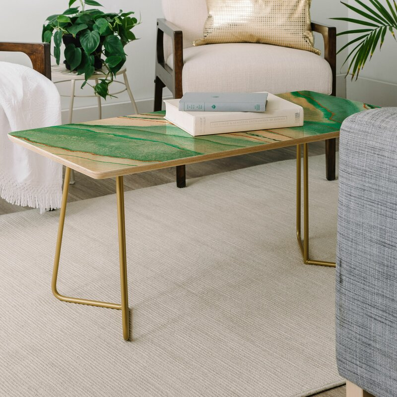 East Urban Home Viviana Gonzalez Agate Inspired Coffee Table