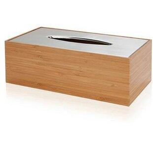 Trisler Bamboo Wood Tissue Box Cover