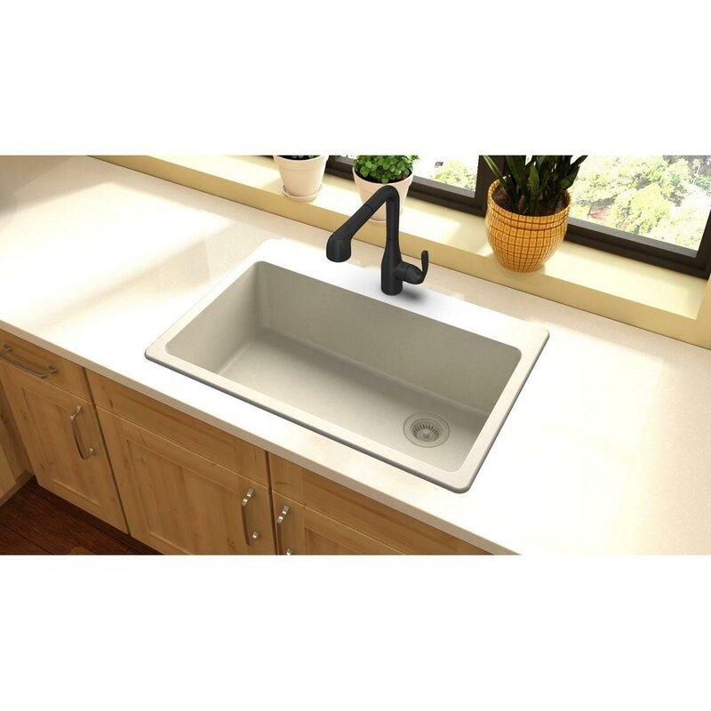 "Elkay Quartz Classic 33"" X 22"" Top Mount Kitchen Sink"