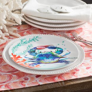 Bolinger Crab Melamine Salad/Dessert Plate (Set of 6) & Crab Plates | Wayfair