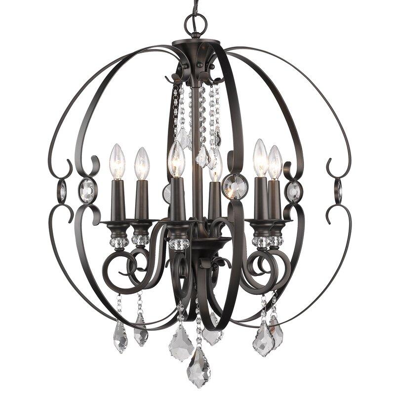 Willa Arlo Interiors Hardouin 6 Light Globe Chandelier Reviews