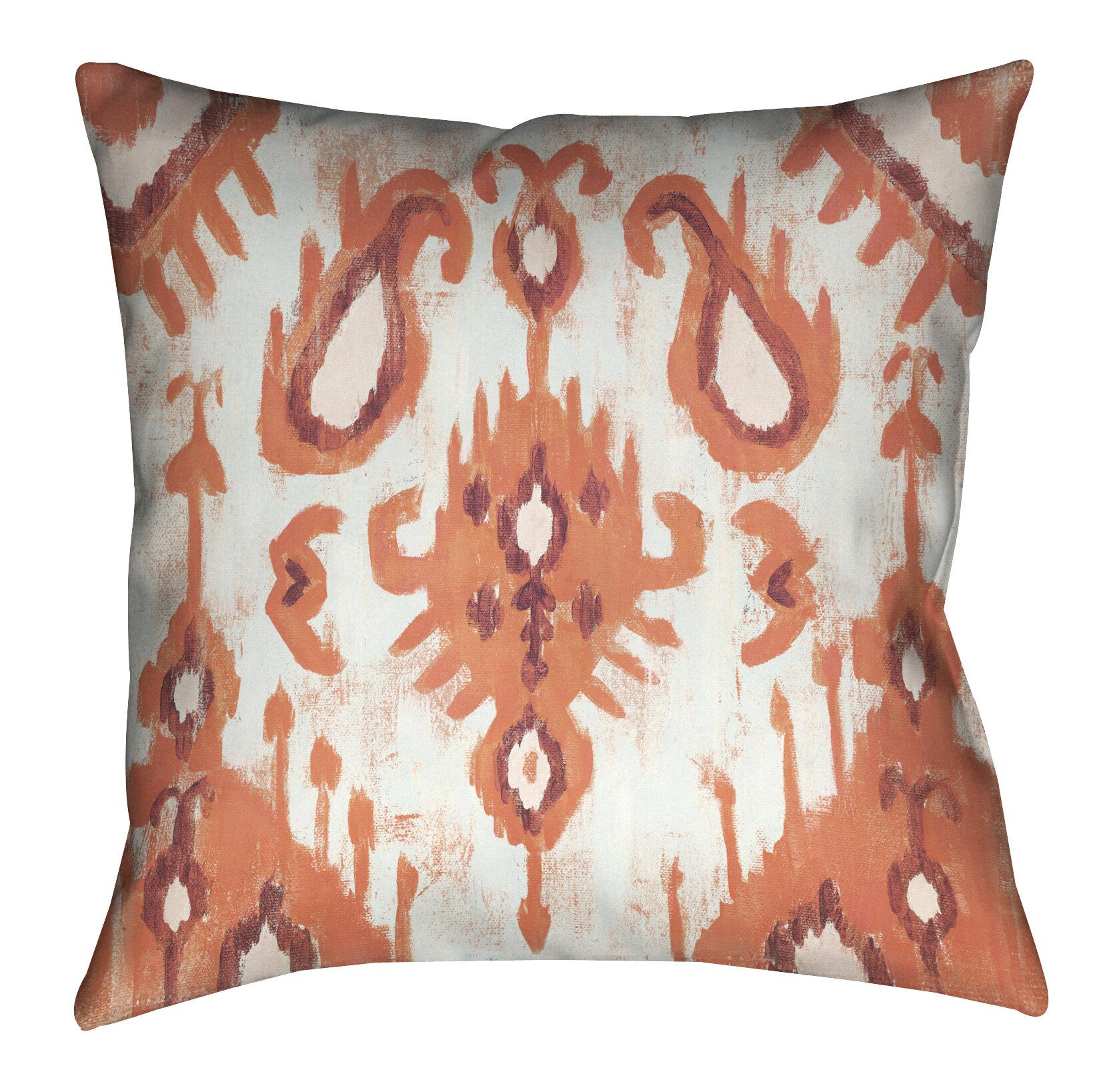 Lauralhome Coral Ikat I Outdoor Throw Pillow Wayfair