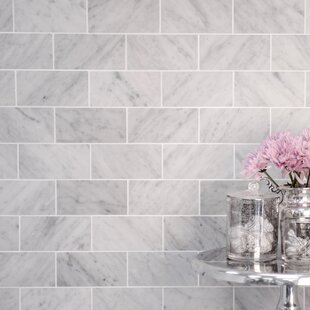 White Carrara Marble Tile   Wayfair