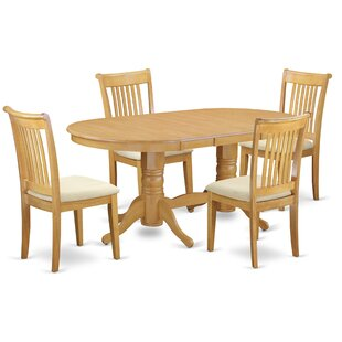 Daniella 5 Piece Extendable Solid Wood Dining Set